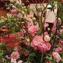 ホテルの中のお花たち