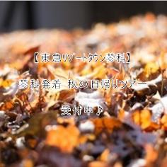 【東急リゾートタウン蓼科】蓼科発着 秋の日帰りツアー受付中♪