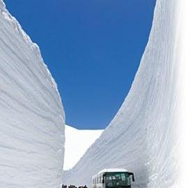 雪の大谷へ